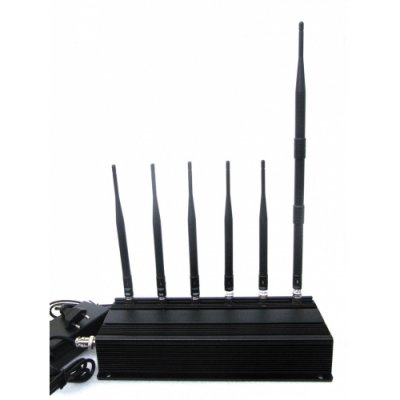 High Power 6 Antenna Mobile phone Lojack RF Signal Jammer