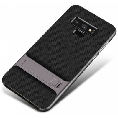 Soft TPU PC with Stand Protective Cover Case for Samsung Galaxy Note 9 - GRAY