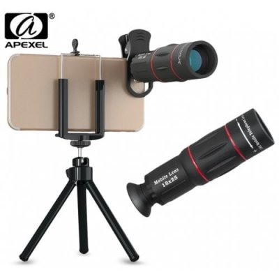 APEXEL APL - T18ZJ 18X Optical Zoom Telephoto Telescope - BLACK