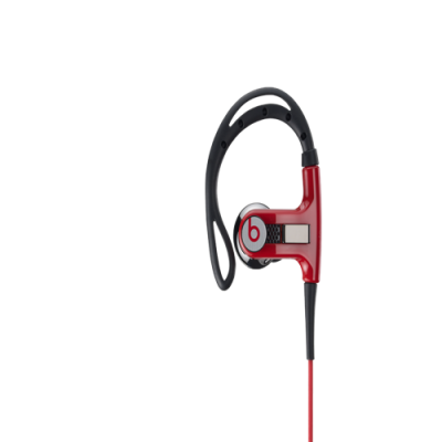 Beats By Dr Dre PowerBeats Clip-On Red Headphones