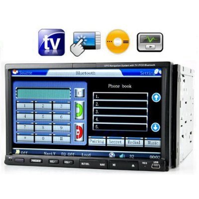 2 DIN 7.0 Inch Touch Screen Car DVD Player - TV - AM / FM