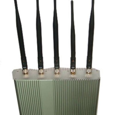 5 Antenna Cell Phone jammer+ Remote Control (3G, GSM, CDMA, DCS)