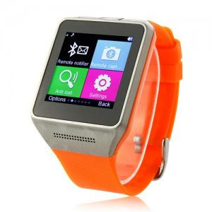 GV08 Watch Phone 1.54 Inch Screen Quad Band Bluetooth BT Dailer Camera - Orange