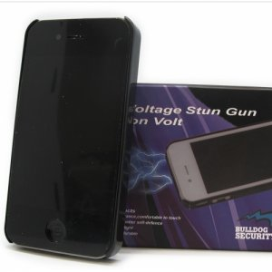 Bulldog Security 5 Million Volt iPhone 12/6S Stun Gun/Flashlight Combo- Black