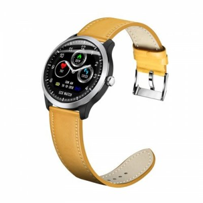 N58 ecg smart watch heart rate monitoring blood pressure smart bracelet-ECG+PPG - YELLOW