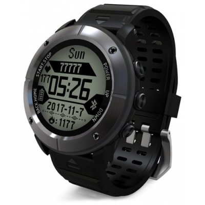 UW80C Male Sports Digital Watch Heart Rate Monitor SOS GPS - GRAY