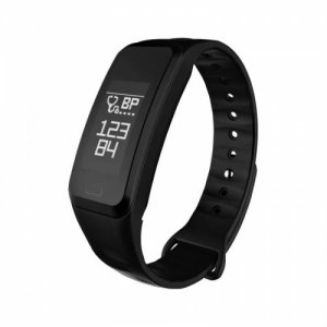 Smart Bracelet Blood Pressure Heart Rate Blood Oxygen Monitoring Exercise Step - BLACK