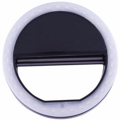 Black Portable Selfie Ring Light For Mobile Phone Led Flash Fill Lamp - BLACK