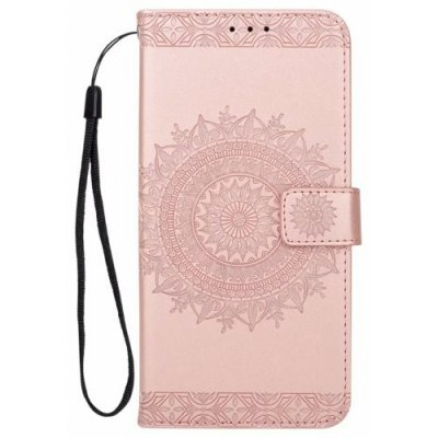 Leather Case Overlay Sun Flower Protection Cover for Samsung Galaxy S9 - PINK