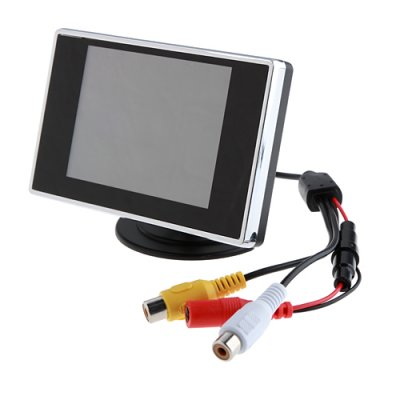 3.5 Flat DVR Car Rearview LCD Monitor for Reverse Backup Camera