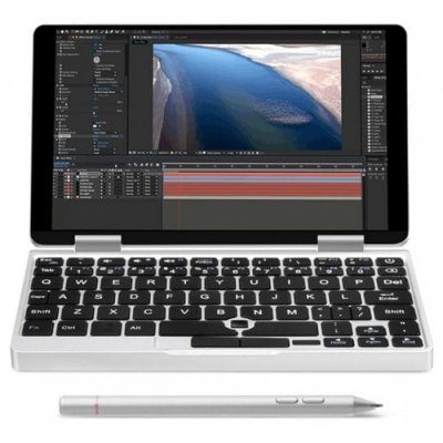 One Netbook One Mix 2 Yoga Pocket Laptop with Handwritten Pen - SILVER