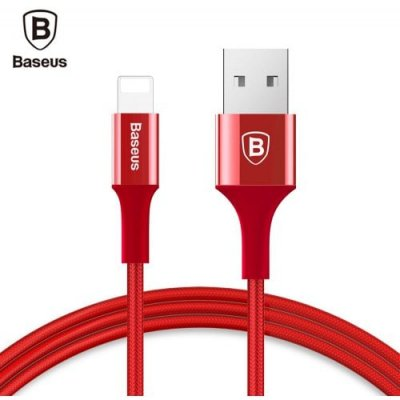 Baseus Shining 8 Pin Cable with Jet Metal Charging Data Cord - RED