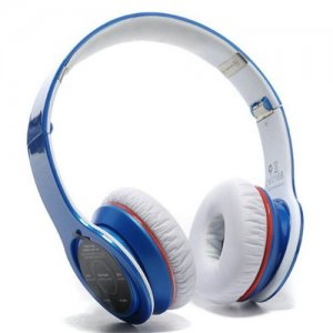 Bluetooth Beats Solo 2 High Performance Bluetooth Over-Ear Blue Headphones