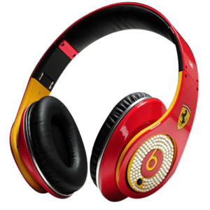 Beats By Dr Dre Ferrari Limited Headphones with Diamond