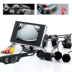 Waterproof Car Parking Kits with 4 Sensor and Rear View Wireless Camera