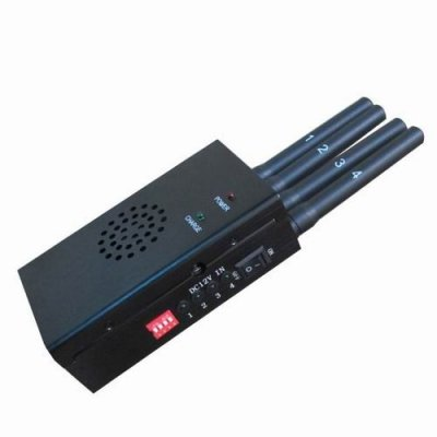 Black Portable High Power 3G 4G LTE Mobile Phone Jammer