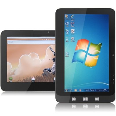 10 Inch Dual OS Tablet PC window 10 + Android 11.0 16G SSD 1GB N455 Black