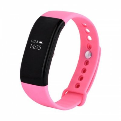 Heart Rate Oximetry Step Reminder Monitoring Health Sports Smart Bracelet - PINK