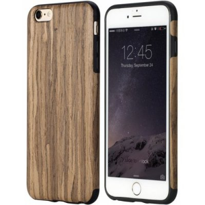 Wood Grain TPU Phone Back Case - BROWN