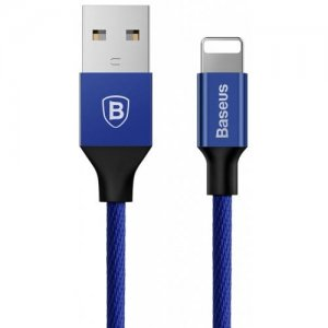 Baseus 2A 8 Pin Fast Charging and Data Transfer Cable 0.6m for iPhone XS - XR - XS MAX - CADETBLUE
