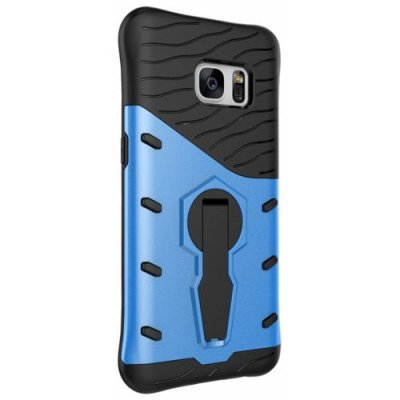 Protection Cover with Heavy Armored Mobile Phone Case for Samsung S7 - OCEAN BLUE