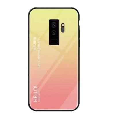 Gradient Tempered Glass Case for Samsung Galaxy S9 Plus - MULTI-A