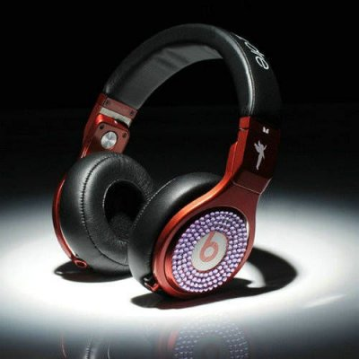 Beats By Dr Dre Pro High Performance Headphones diamond black/red