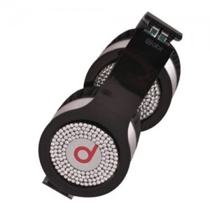 Beats By Dr Dre Solo White Diamond Headphones Black