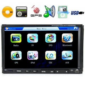 7 Inch High-Def Touchscreen Car DVD Player System with GPS Navigator