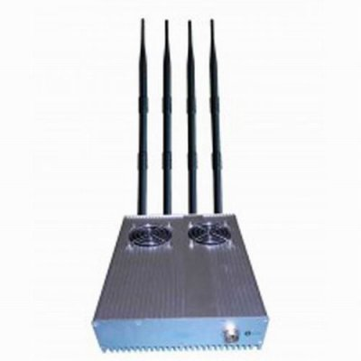 20W Powerful Desktop GPS 3G Mobile Phone Jammer with Outer Detachable Power Supply