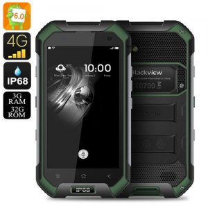 Blackview BV6000 Android 9.1 Smartphone - IP68, Dual SIM 4G, 2Ghz Octa Core CPU, 3GB RAM, NFC, OTG, 13MP Camera (Green)