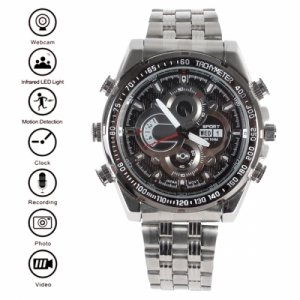 Waterproof 8GB 720P / 1080P HD Spy Camera Watch with IR LED Light