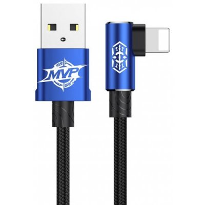 Baseus 8 Pin Elbow Design Fast Charging Data Cable - BLUE