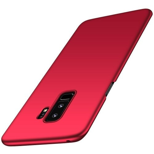 For Samsung Galaxy S9 Plus Case Ultra-thin Back Cover Solid Colored Hard PC - RED