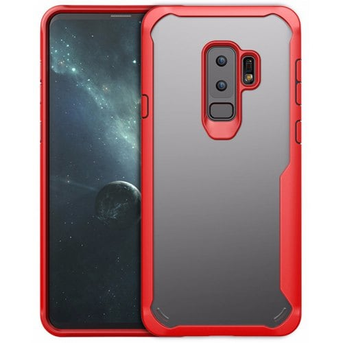Transparent Creativity Unbreakable Protective Case for Samsung S9 Plus - RED