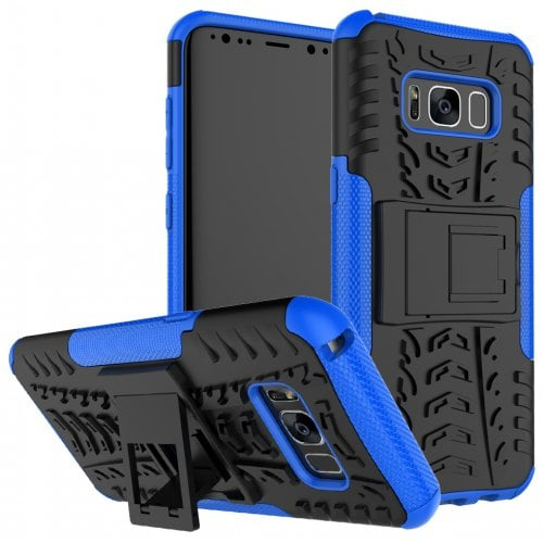 Case for Samsung S8 Shockproof Back Cover Armor Hard Silicone - SAPPHIRE BLUE