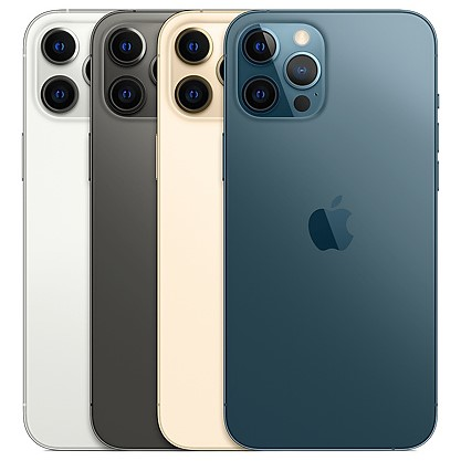 iPhone 12 Pro Max Clone iOS 14.1 6.7inch Super Retina Screen Quad Camera 64MP 5G Network RAM 6GB ROM 128GB 256GB 512GB