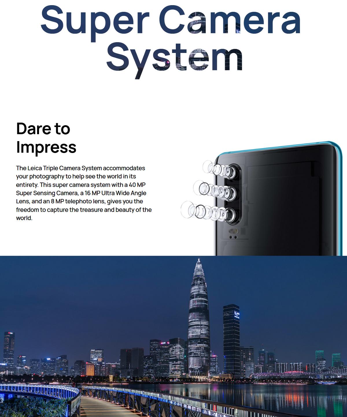 HUAWEI P30 6.1 inch Triple Rear Camera 8GB RAM 64GB/128GB ROM Kirin 980 Octa core 4G Smartphone