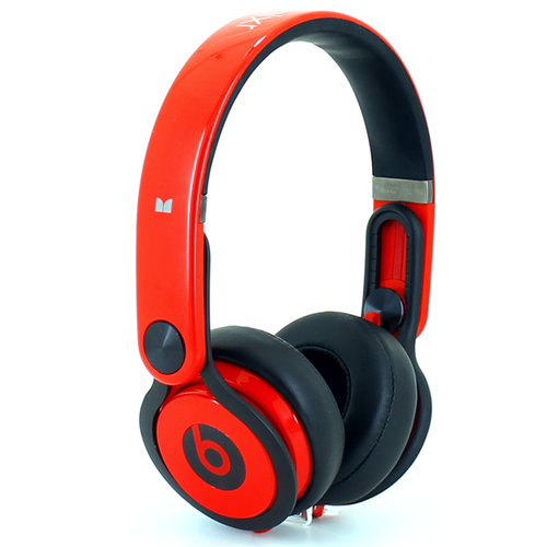 Beats By Dr Dre Mixr Over Ear Red Black Dj Headphones Inspired By David Guetta