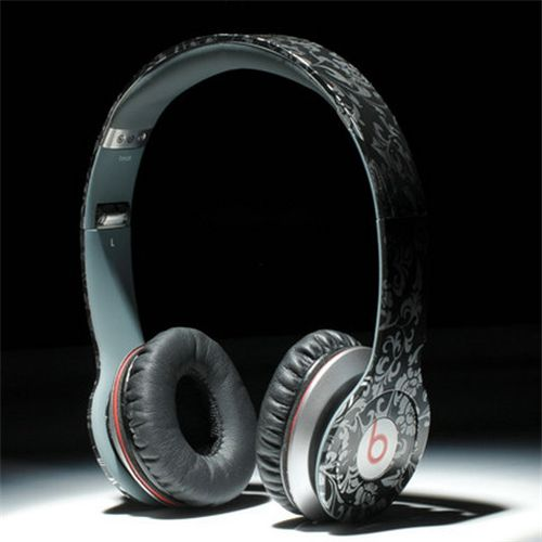 Beats By Dr Dre Solo HD High Performance Headphones Black Pattern