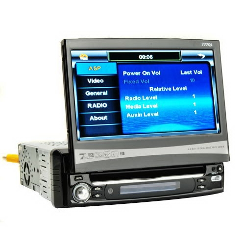7 Inch Screen Car DVD - AM + Touch Screen + FM + Multiple-control Mode