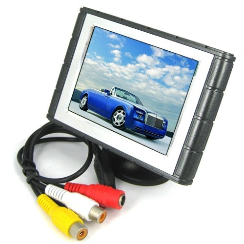 4 Inch TFT LCD Color Screen Car Monitor Support 2 Channel Video Input