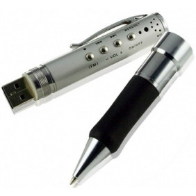 MP3 Player USB Pen Voice Recorder with FM Tuner - 4GB