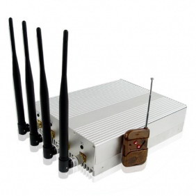 High Power Mobile Phone Signal Jammer with Remote Control