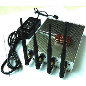 Adjustable Cell Phone 3G and Wifi Signal Jammer with Four Bands and Remote Control
