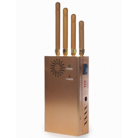 New Handheld Four Bands Cell Phone Jammer GPS Jammer with Single-Band Control + Three Sides Wind Slots