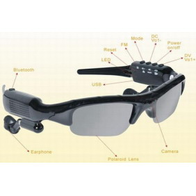 2GB Bluetooth MP3 Sunglasses with Camera FM