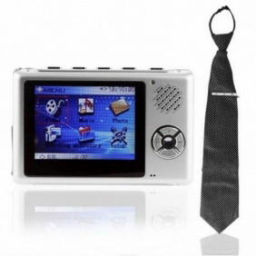 Tie Style Spy Camera with 2.5 inch LCD MP4 Player and 512MB Flash Memory