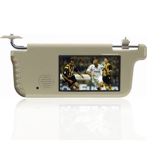7 Inch Sun Visor With LCD Monitor - Left Side