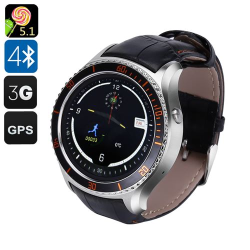 IQI I2 Android Smart Watch - 3G, Android 9.1, GPS, Bluetooth 4.0, Wi-Fi, Play Store, Pedometer, Heart Rate Monitor (Silver)